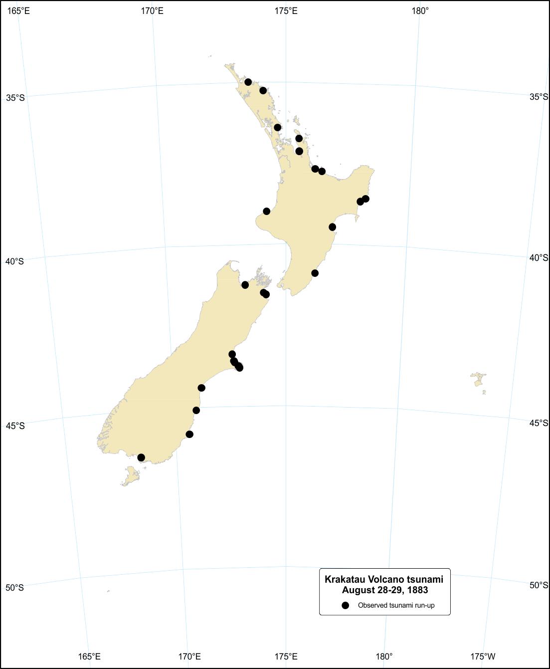 Geonet Krakatau Volcano Tsunami 28 To 29 August 1883
