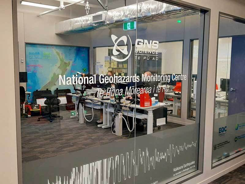 The National Geohazard Monitoring Centre / Te Puna Mōrearea i te Rū (NGMC) in Avalon at GNS