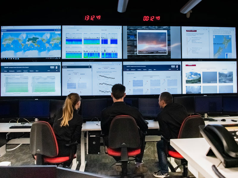 Geohazard analysts in the National Geohazard Monitoring Centre