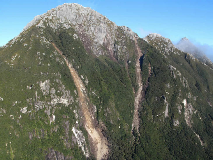 Landslides and rockfall. [GNS Science]