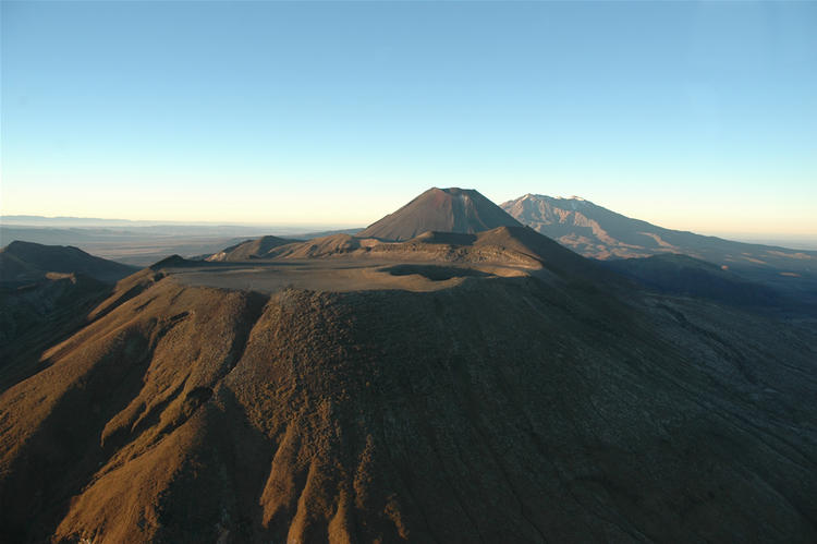 North Crater, Ngauruhoe and Ruapehu.