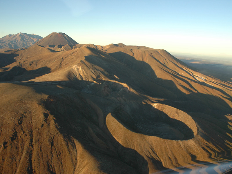 Tongariro from the north-east (Te Māri Crater in foreground).